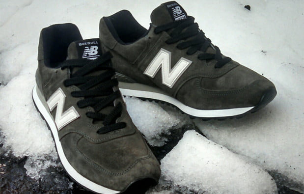 New Balance 574 in the snow