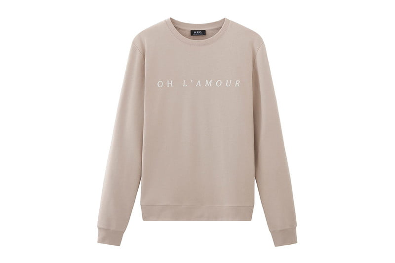 Oh, L'Amour Sweatshirt by A.P.C.