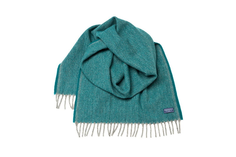 Oversized Ashby Twill Wool Scarf in Spruce by FARIBAULT WOOLEN MILL CO