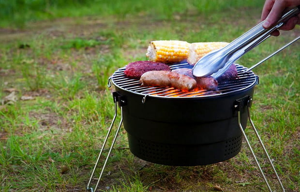 Pop-up-grill camping gadget