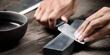 sharpening a knife