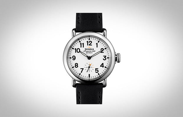 Shinola Runwell 36 MM White Watch