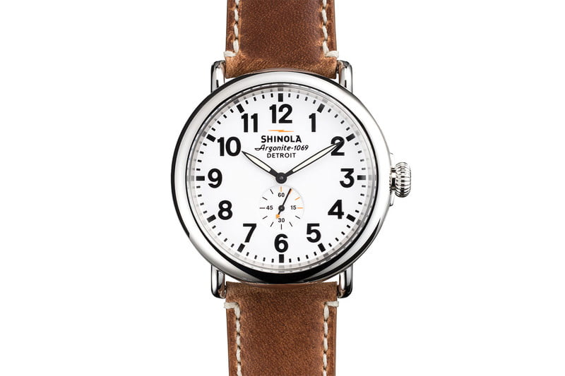 shinola runwell 47mm men's watch