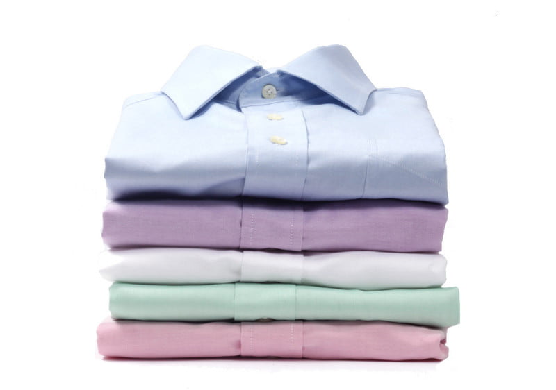 pressed and folded shirts