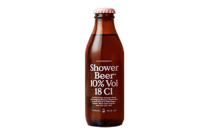 shower beer grooming