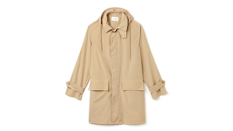 STAND-UP COLLAR LIGHTWEIGHT RAIN PARKA BY LACOSTE