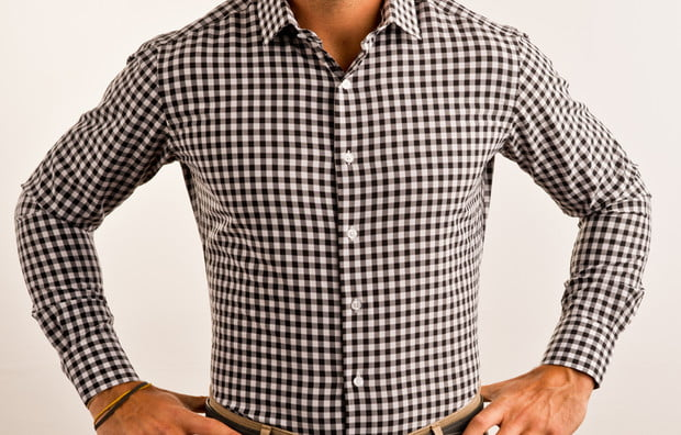 State & Liberty, Gingham Dress Shirt, Athletic Fit Dress Shirt, Fitted Dress Shirt