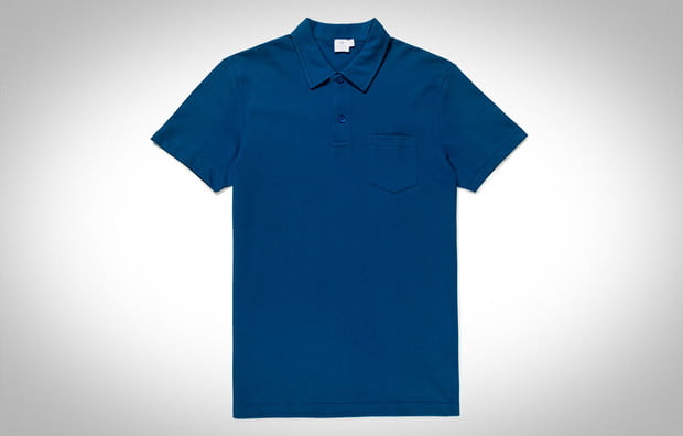 Slim blue polo shirt