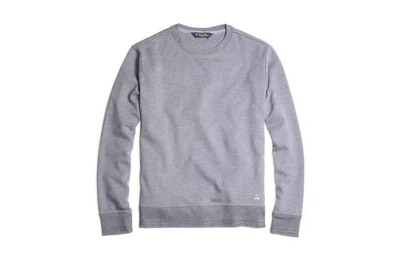 Supima Cotton Crewneck Sweatshirt by BROOKS BROTHERS