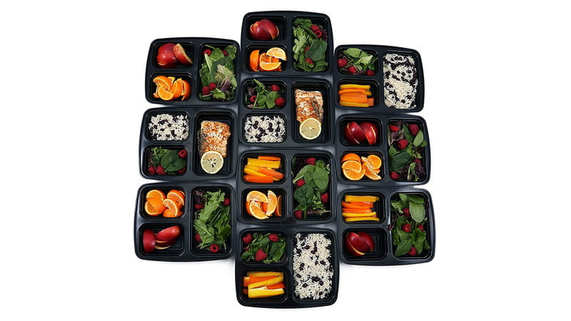 The Meal Lab Leak-Proof 3 Compartment Bento Lunch Box