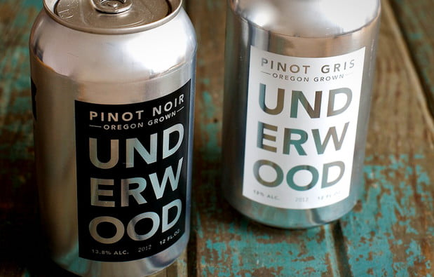 wine cans pinot