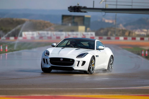 Jaguar F TYPE Coupe wet track