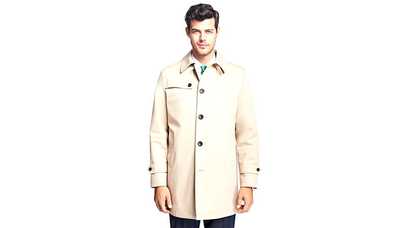 WATER-RESISTANT SINGLE-BREASTED TRENCH COAT COAT BY BROOKS BROTHERS RED FLEECE