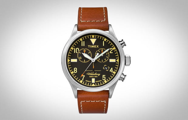 Durable leather watch