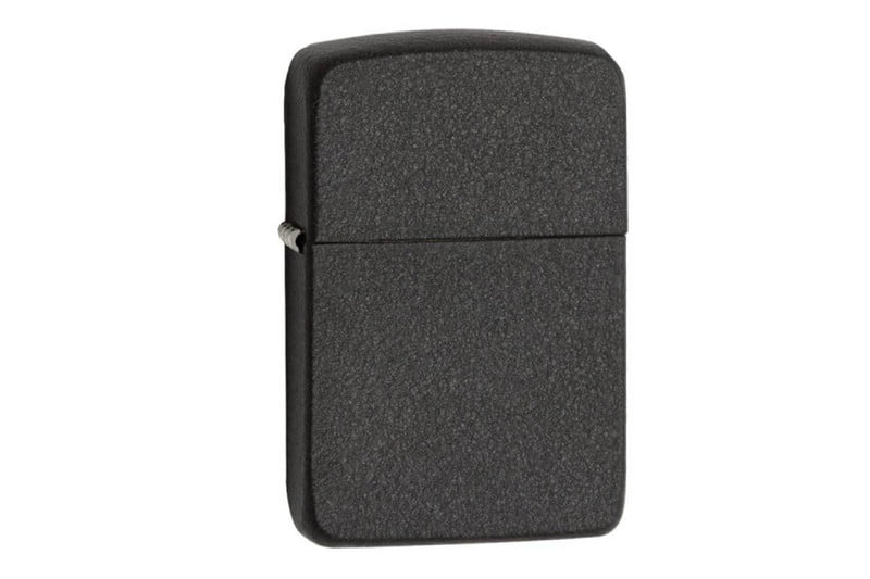zippo black crackle finish lighter