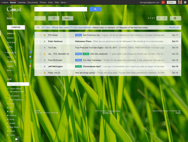 google gmail new look