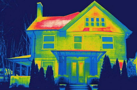 thermal view house
