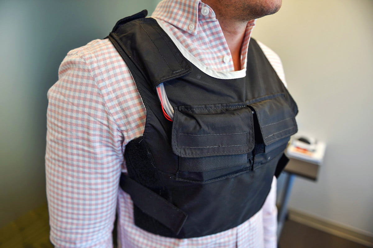 thin ice weight loss vest hands on plate