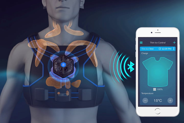 thin ice weight loss vest hands on screen
