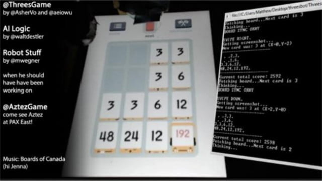 robot plays threes perfectly infuriates people suck twitch