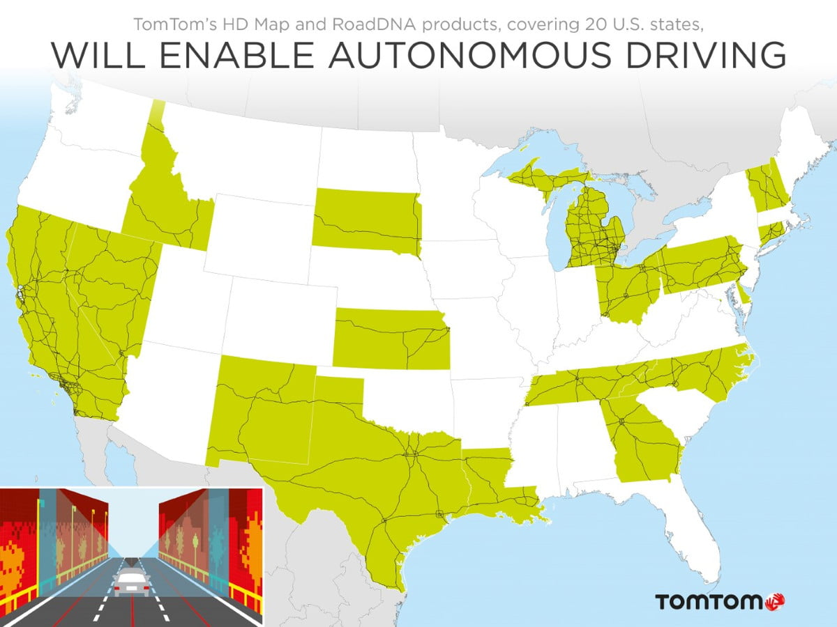 tomtom releases hd maps for  states volvo navigation