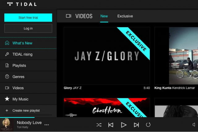 tidal update video rising artists home screen