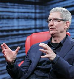 Apple CEO Tim Cook D10