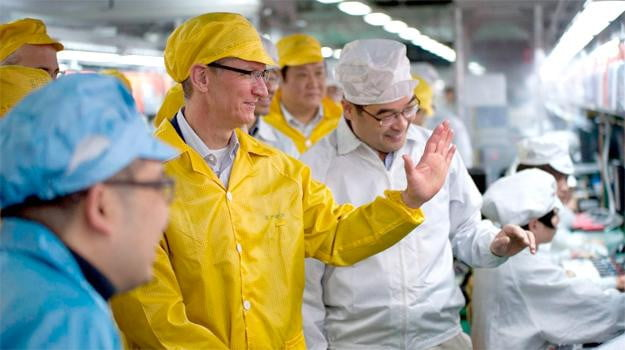 Tim Cook Foxconn factory