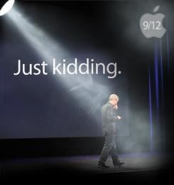 tim-cook-just-kidding- apple iphone 5 annoucement-sq