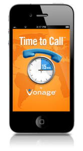Vonage Time to Call iPhone