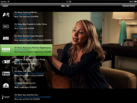 time warner cable app ipad viacom