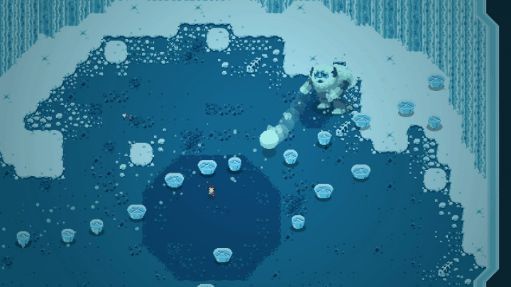here are three game jam darlings that get to go big with devolver digital titan souls  screen