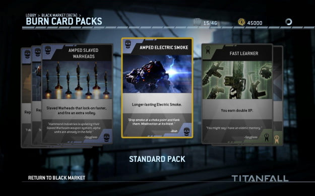 titanfall burn card pack