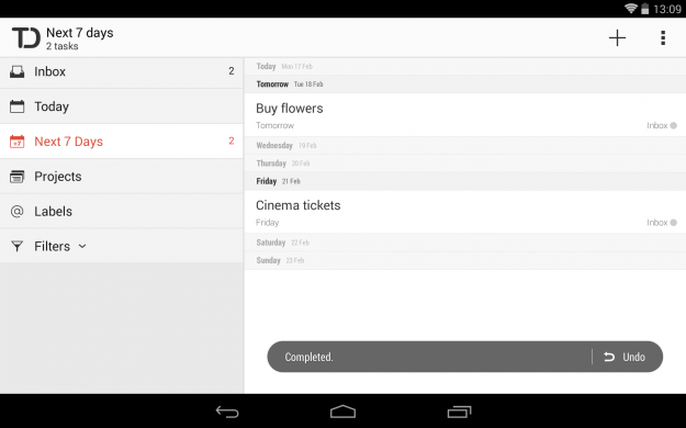 Todoist_Android_tablet_app_screenshot