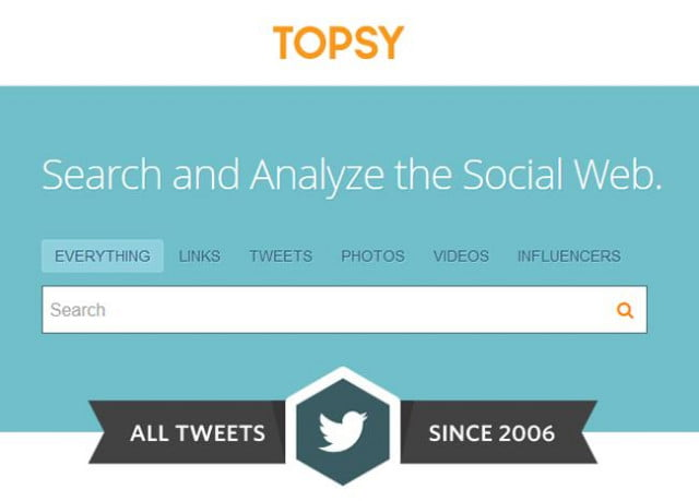 topsy documents every tweet anyone has ever posted since twitters inception