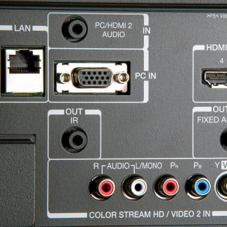 Toshiba 65L9300U 4k TV review rear inputs