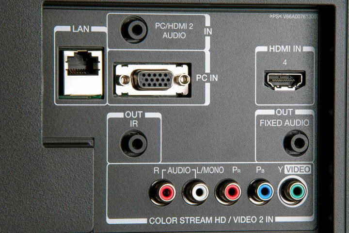 toshiba  l u review k tv rear inputs