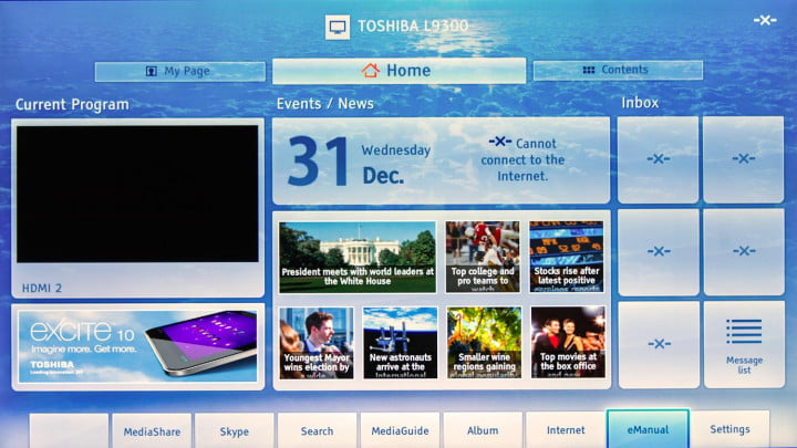 toshiba  l u review k tv screen main