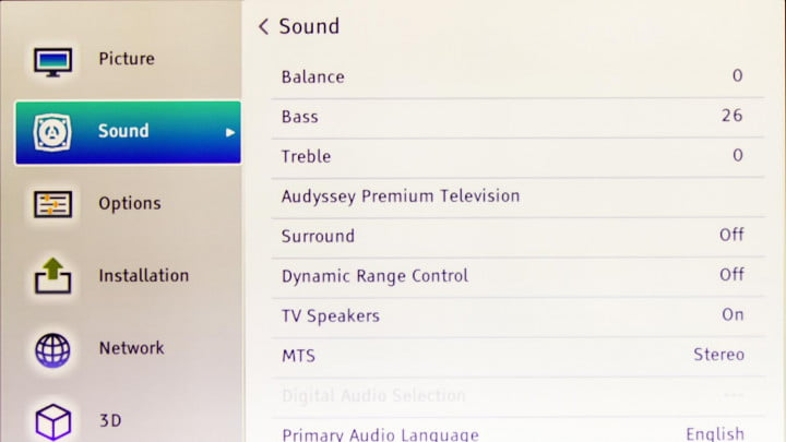 toshiba  l u review k tv screen menu sound