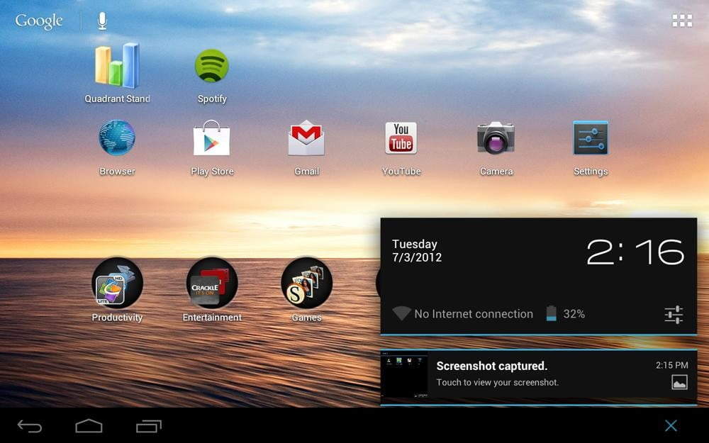 toshiba excite 7 7 review screenshot home android 4.0 ice cream tablet