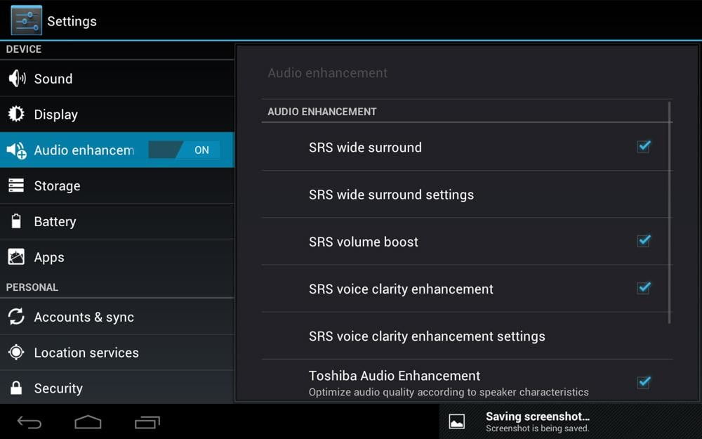 toshiba excite 7 7 review screenshot settings android 4.0 ice cream tablet