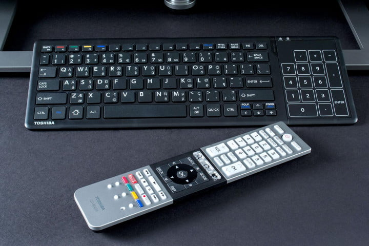 toshiba  l u review keyboard and remote