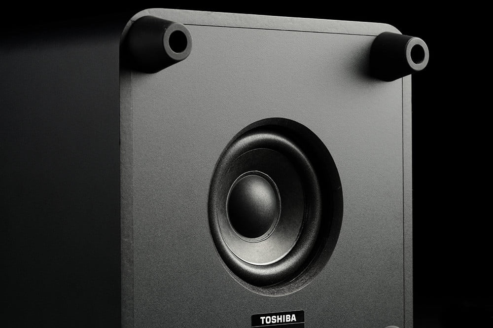 Toshiba Mini 3D Review subwoofer driver
