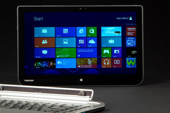 toshiba satellite click review start screen detached
