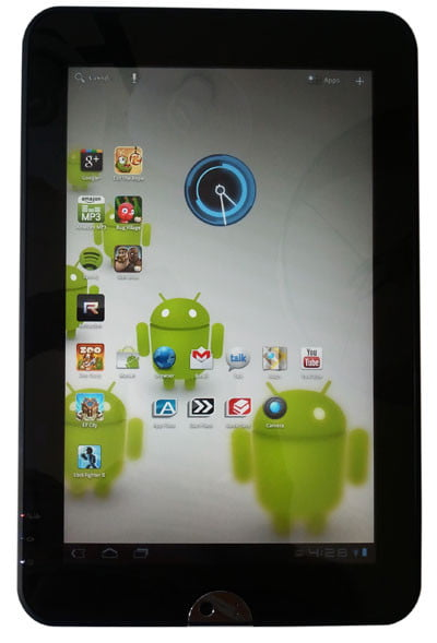 Toshiba Thrive screen Android