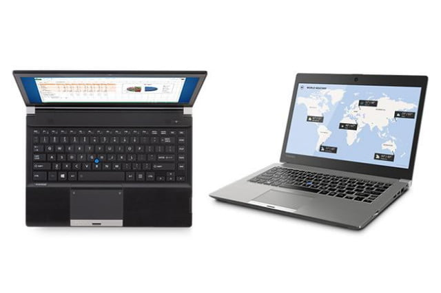 toshibas refreshed portege and tecra laptops emphasize portability with less compromise toshiba z  r