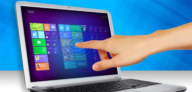 touch screen laptops windows 8
