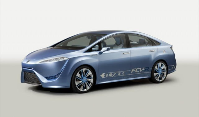 the next prius toyota introduces prototype hydrogen fuel cell car fcv