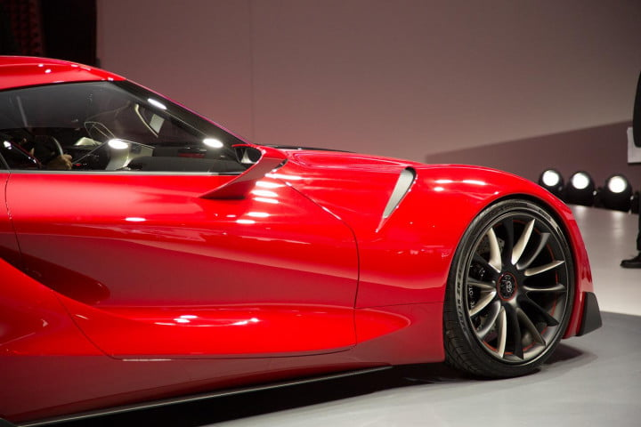 toyota taking detroit auto show storm downright stunning ft  concept front right macro