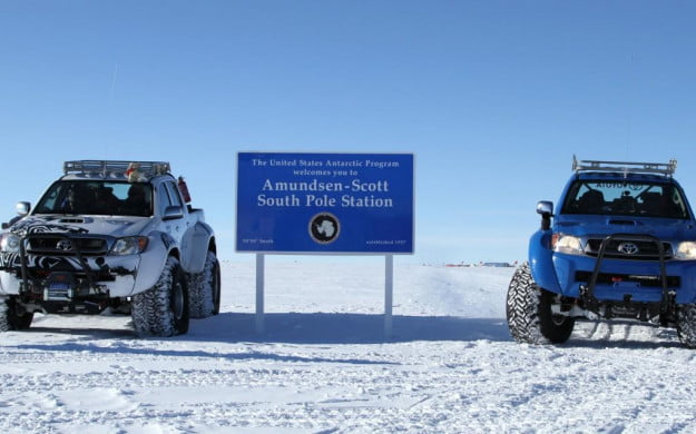 Toyota Hilux at South Pole